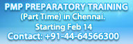 PPM Preparatory Training program in Chennai starting from Feb 14, 2011